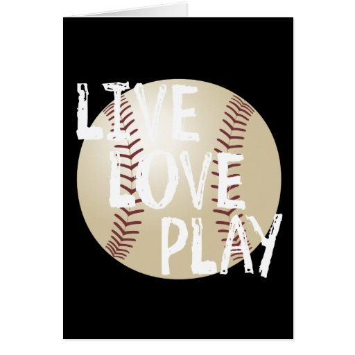 Live, Love, Play Baseball Cards