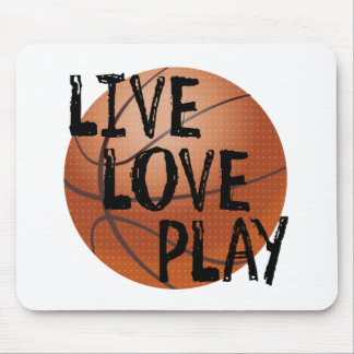 Live, Love, Play Basketball Mouse Pad