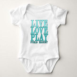 Live, Love, Play - Field Hockey Baby Bodysuit