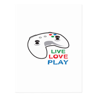 LIVE LOVE PLAY POSTCARD