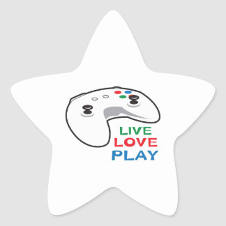 LIVE LOVE PLAY STAR STICKERS