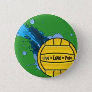 Live Love Polo - Water Polo Button
