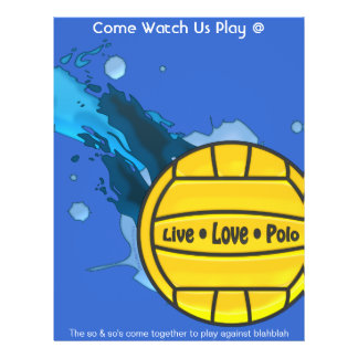Live Love Polo - Water Polo Fliers Flyer
