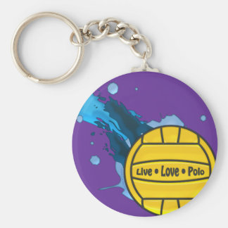 Live Love Polo - Water Polo Keyring Basic Round Button Keychain