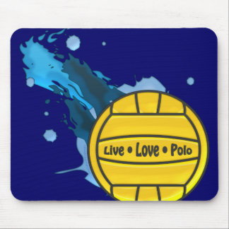 Live Love Polo - Water Polo Mousepad