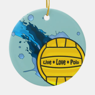 Live Love Polo - Water Polo Ornament