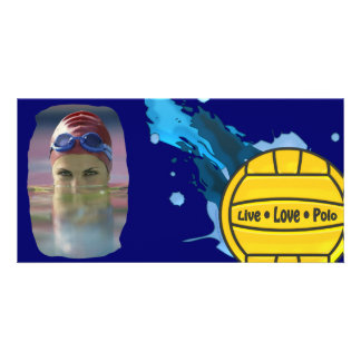 Live Love Polo - Water Polo Photo Card - Customize