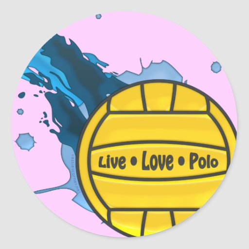 Live Love Polo - Water Polo Stickers