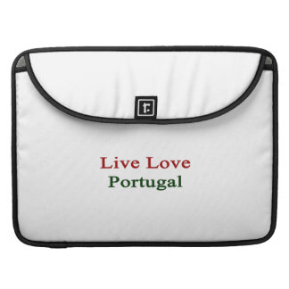 Live Love Portugal Sleeves For MacBook Pro