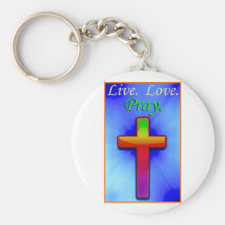 Live Love Pray (#1) Keychain