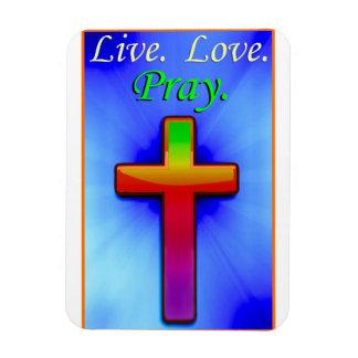 Live Love Pray (#1) Magnet