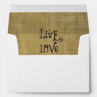 Live Love Pray Christian Quote Affirmation Envelope