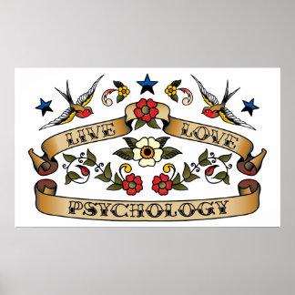 Live Love Psychology Posters