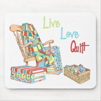 Live Love Quilt Mouse Pads