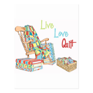 Live..Love..Quilt Postcard