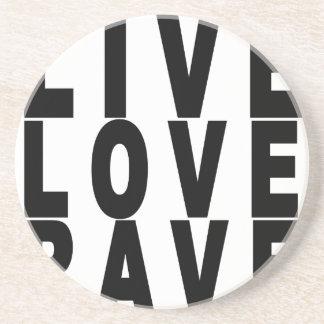 live love rave t-shirt.png drink coaster