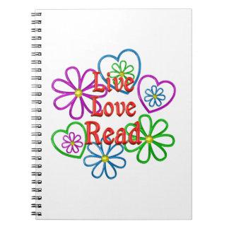 Live Love Read Spiral Notebook