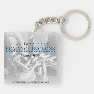 Live. Love. Read. Square Keychain