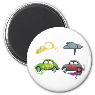 Live Love Recycle Green Customizable 2 Inch Round Magnet