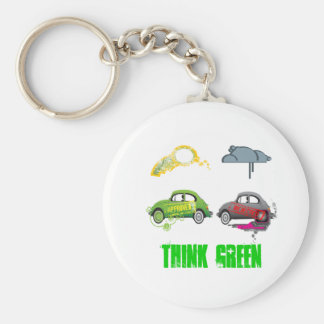 Live Love Recycle Green Customizable Basic Round Button Keychain