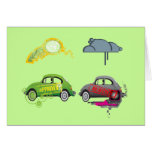 Live Love Recycle Green Customizable Greeting Card