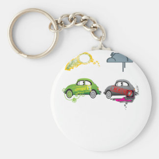Live Love Recycle Green Customizable Key Chains