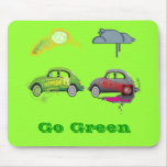 Live Love Recycle Green Customizable Mouse Pad