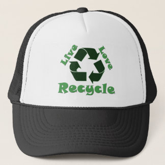 Live Love Recycle Trucker Hat