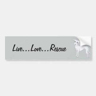 Live...Love...Rescue Bumper Sticker