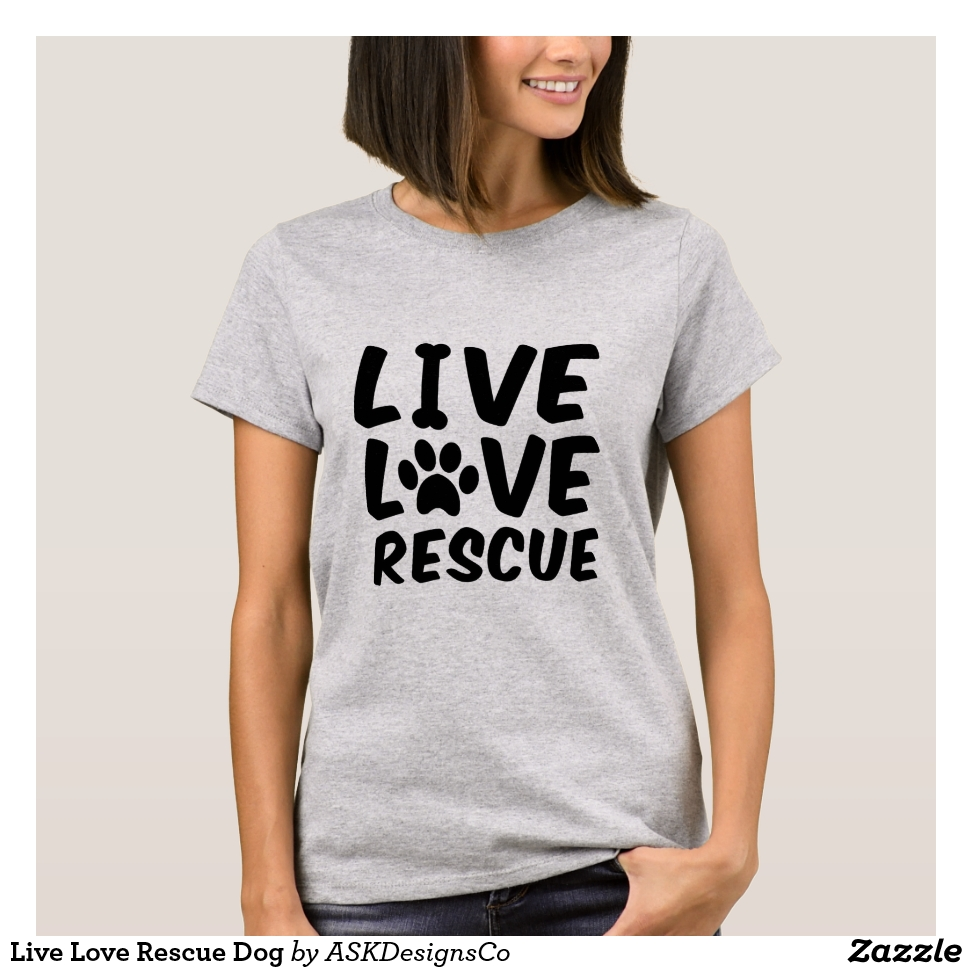 Live Love Rescue Dog T-Shirt - Best Selling Long-Sleeve Street Fashion Shirt Designs
