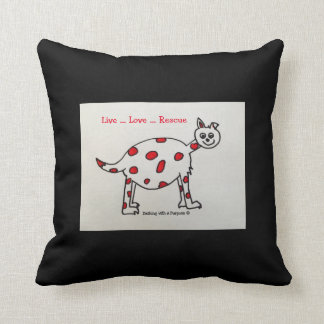 """""""Live Love Rescue"""" Throw Pillow"""