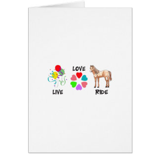 LIVE LOVE RIDE GREETING CARD