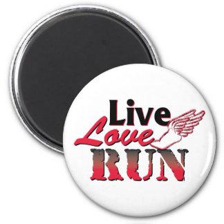 Live Love Run 2 Inch Round Magnet