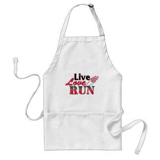 Live Love Run Adult Apron