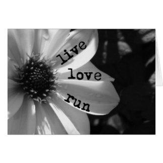 Live Love Run by Vetro Designs Card