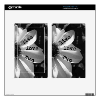 Live Love Run by Vetro Designs Kindle Fire Skins