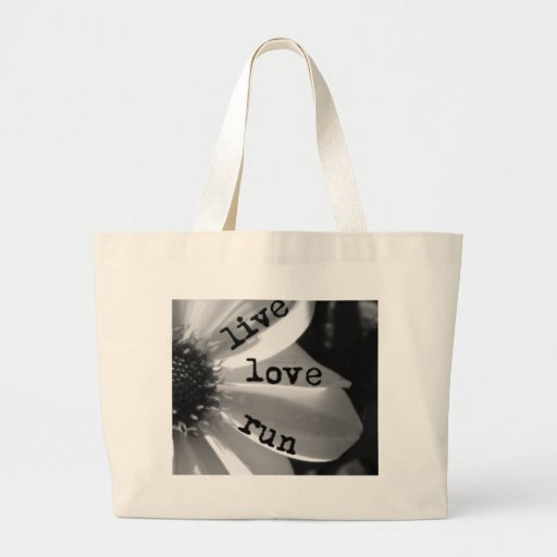 Live Love Run by Vetro Jewelry and Designs Canvas Bags