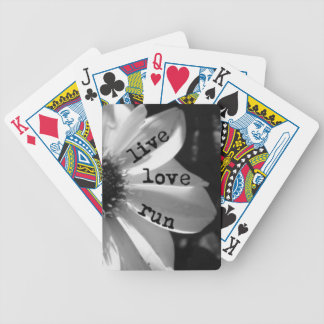 Live Love Run by Vetro Jewelry and Designs Bicycle Playing Cards