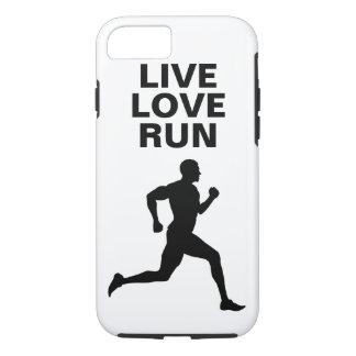 Live, Love, Run Marathon runner iPhone 7 case