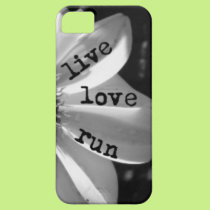 Live Love Run phone case by Vetro Designs