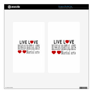 LIVE LOVE RUSSIAN MARTIAL ARTS MARTIAL ARTS DECAL FOR KINDLE FIRE