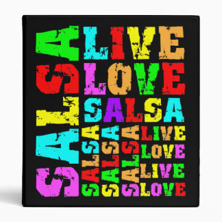Live love salsa vinyl binders
