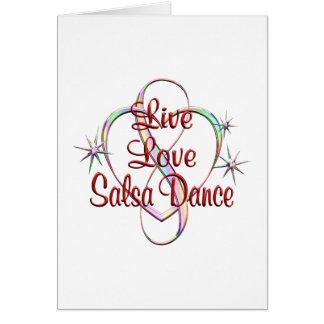 Live Love Salsa Dance Card