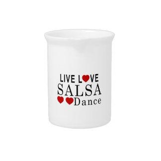 LIVE LOVE SALSA DANCE DRINK PITCHER