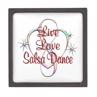 Live Love Salsa Dance Jewelry Box