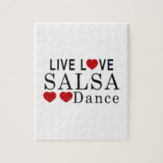 LIVE LOVE SALSA DANCE JIGSAW PUZZLE