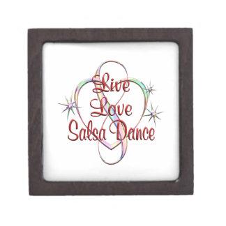Live Love Salsa Dance Keepsake Box