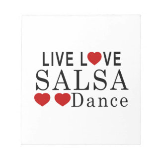 LIVE LOVE SALSA DANCE NOTEPAD