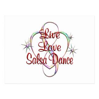Live Love Salsa Dance Postcard