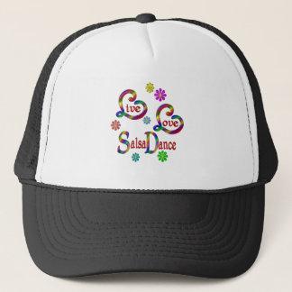 Live Love Salsa Dance Trucker Hat